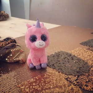 This is Magick my production assistant unicorn.  I keep him with me when I feel like I need to remember the spirit of play as I go about my daily creations.
